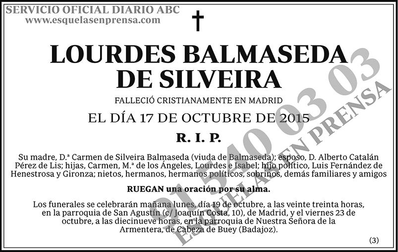 Lourdes Balmaseda de Silveira